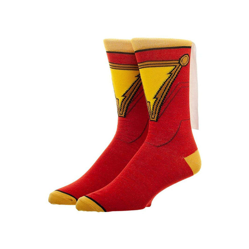 Bioworld DC Comics Shazam Cape Men's Crew Socks