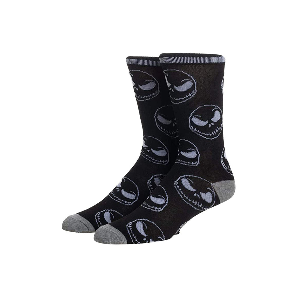 Bioworld Nightmare Before Christmas Jack Face Single Pair Men's Crew Socks