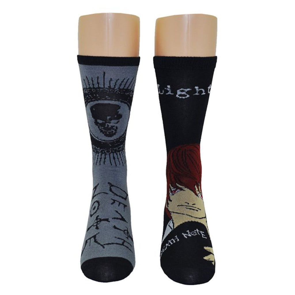 Socks - Death Note Light Yagami 2 Pairs Of Crew Long Socks
