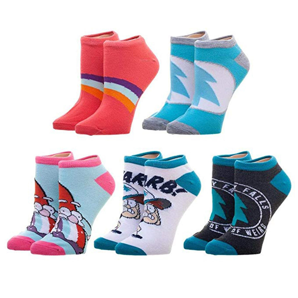 Disney Gravity Falls Character 5 Pairs Of Ankle Socks
