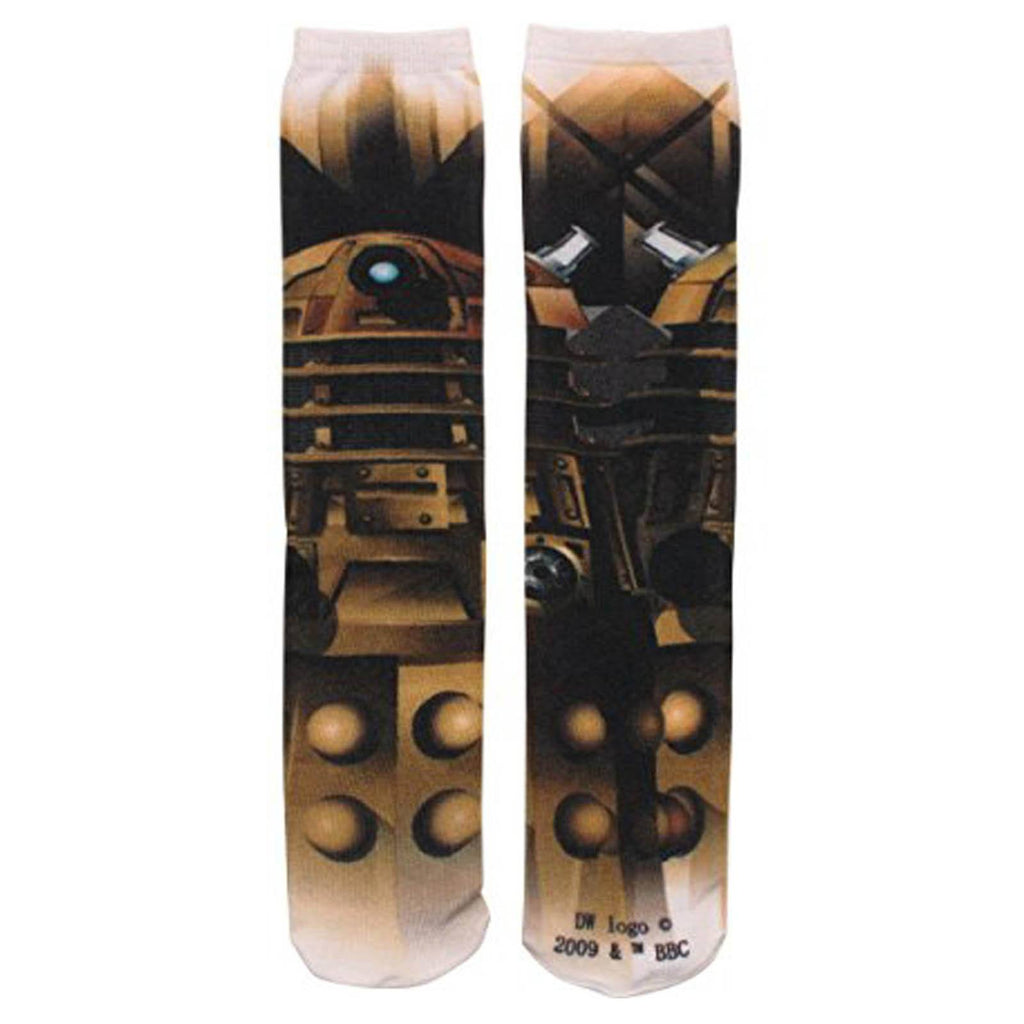 Doctor Who Dalek 360 Photoreal 1 Pair Of Socks