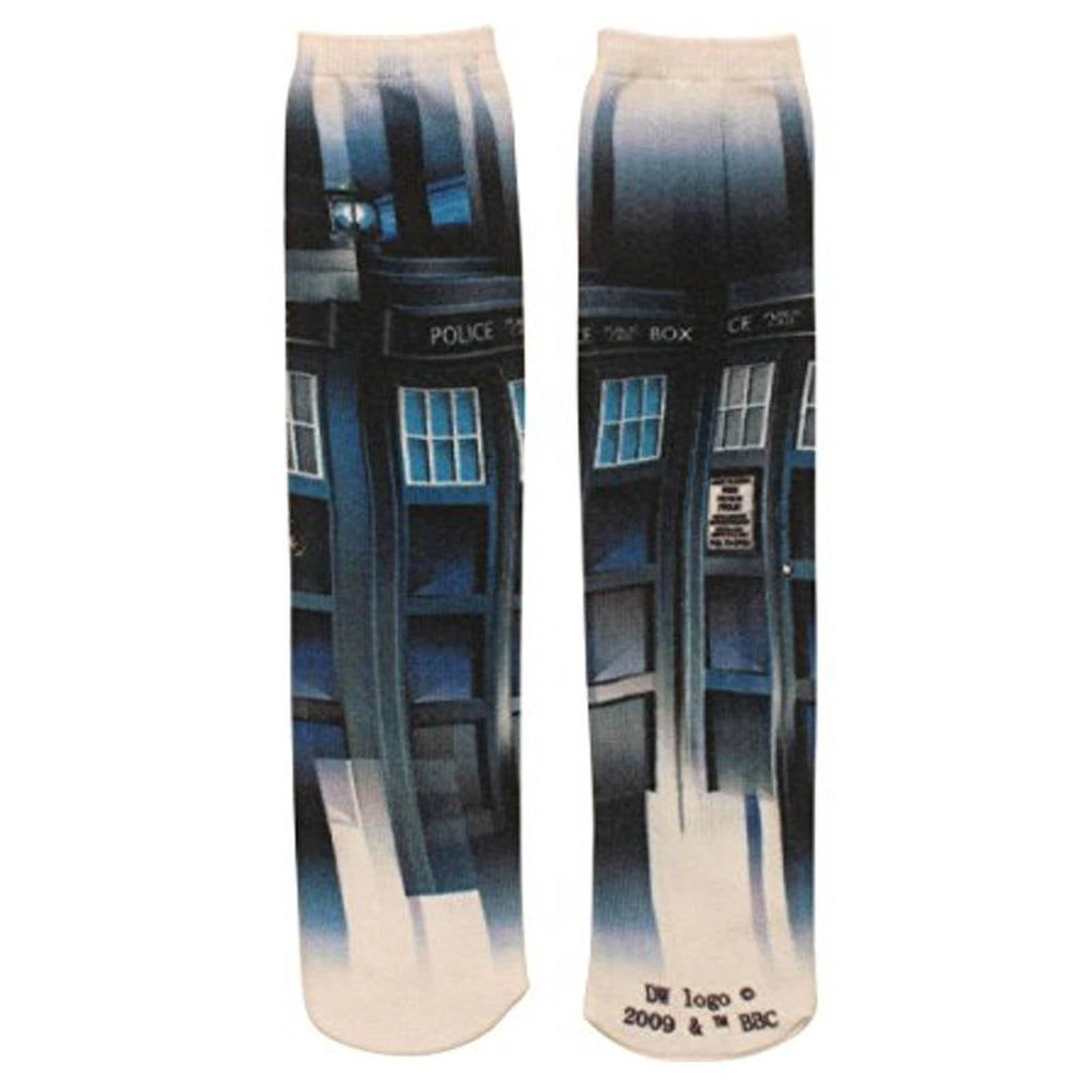 Doctor Who Tardis 360 Photoreal 1 Pair Of Socks