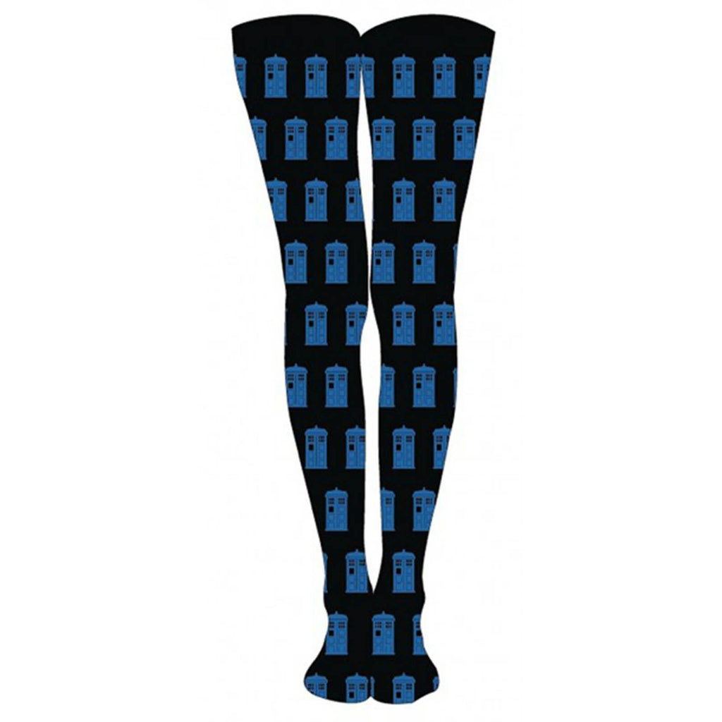 Doctor Who Tardis Black And Blue 1 Pair Of Tights