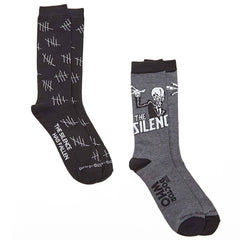 Doctor Who The Silence 2 Pairs Of Crew Socks - Radar Toys