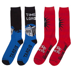 Doctor Who Time Lord 2 Pairs Of Crew Socks - Radar Toys