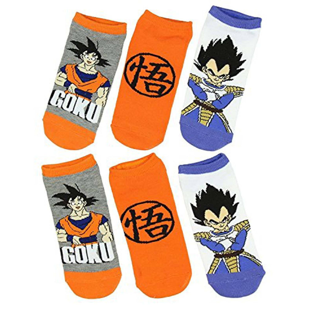 Dragon Ball Z Character 3 Pairs Of Low Cut Socks