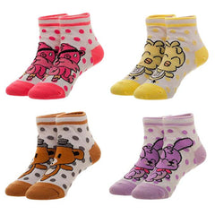 Socks - Five Nights At Freddy's Youth Character 4 Pairs Of Ankle Socks