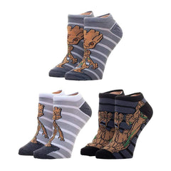 Socks - Guardians Of The Galaxy Groot Three Pair Ankle Socks