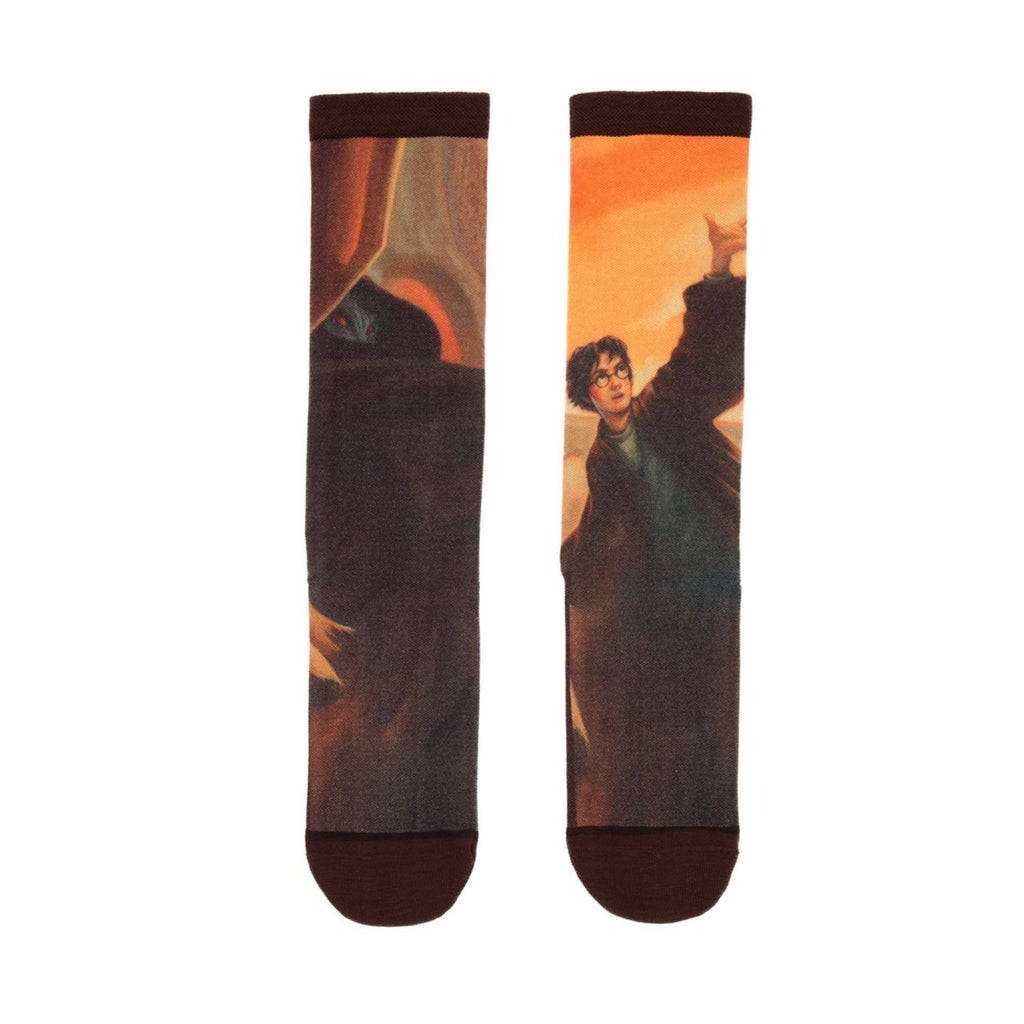 Harry Potter And The Deathly Hallows Single Pair Large Crew Socks