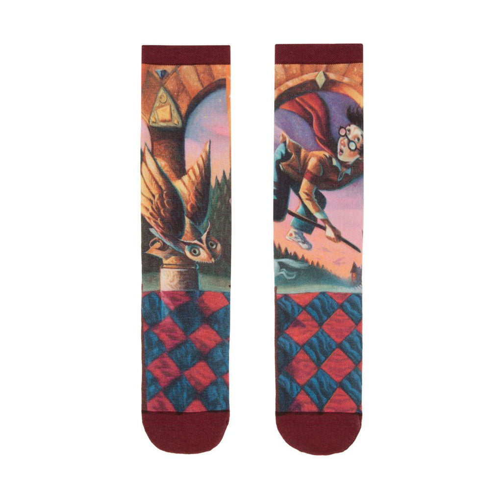 Harry Potter And The Sorcerer's Stone Single Pair Large Crew Socks