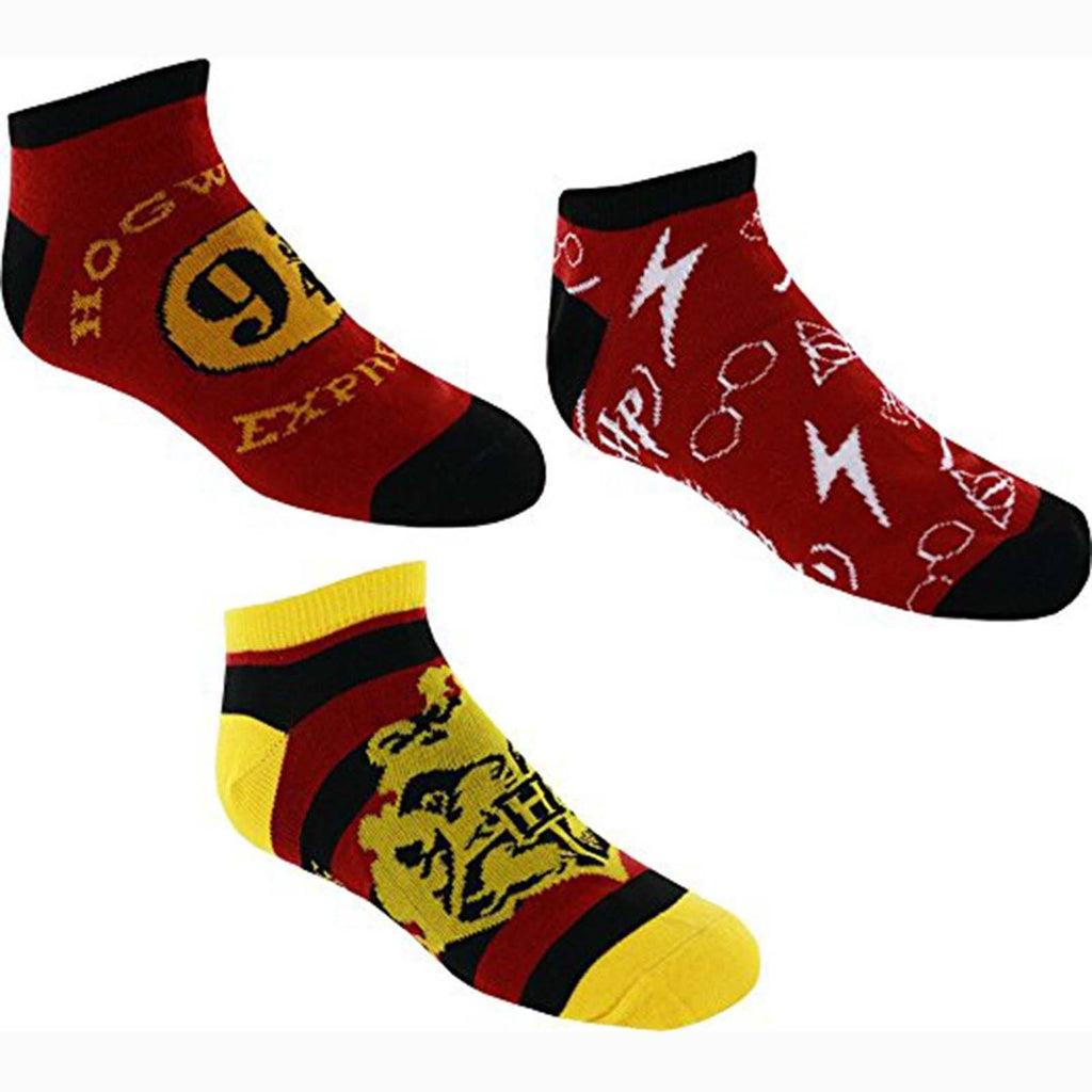 Harry Potter Hogwarts Themed Three Pairs Of Ankle Socks