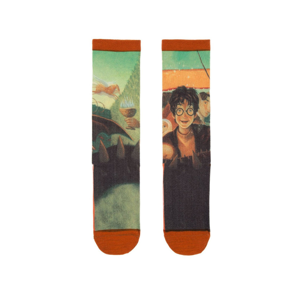 Harry Potter The Goblet Of Fire Single Pair Large Crew Socks
