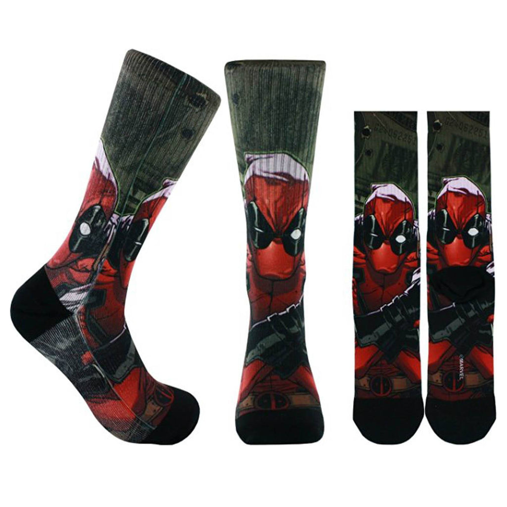 Marvel Deadpool Cash One Pair Of Premium Crew Socks