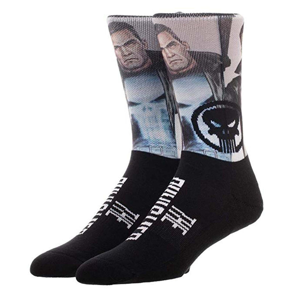 Marvel The Punisher Sublimated 1 Pair Of Crew Socks