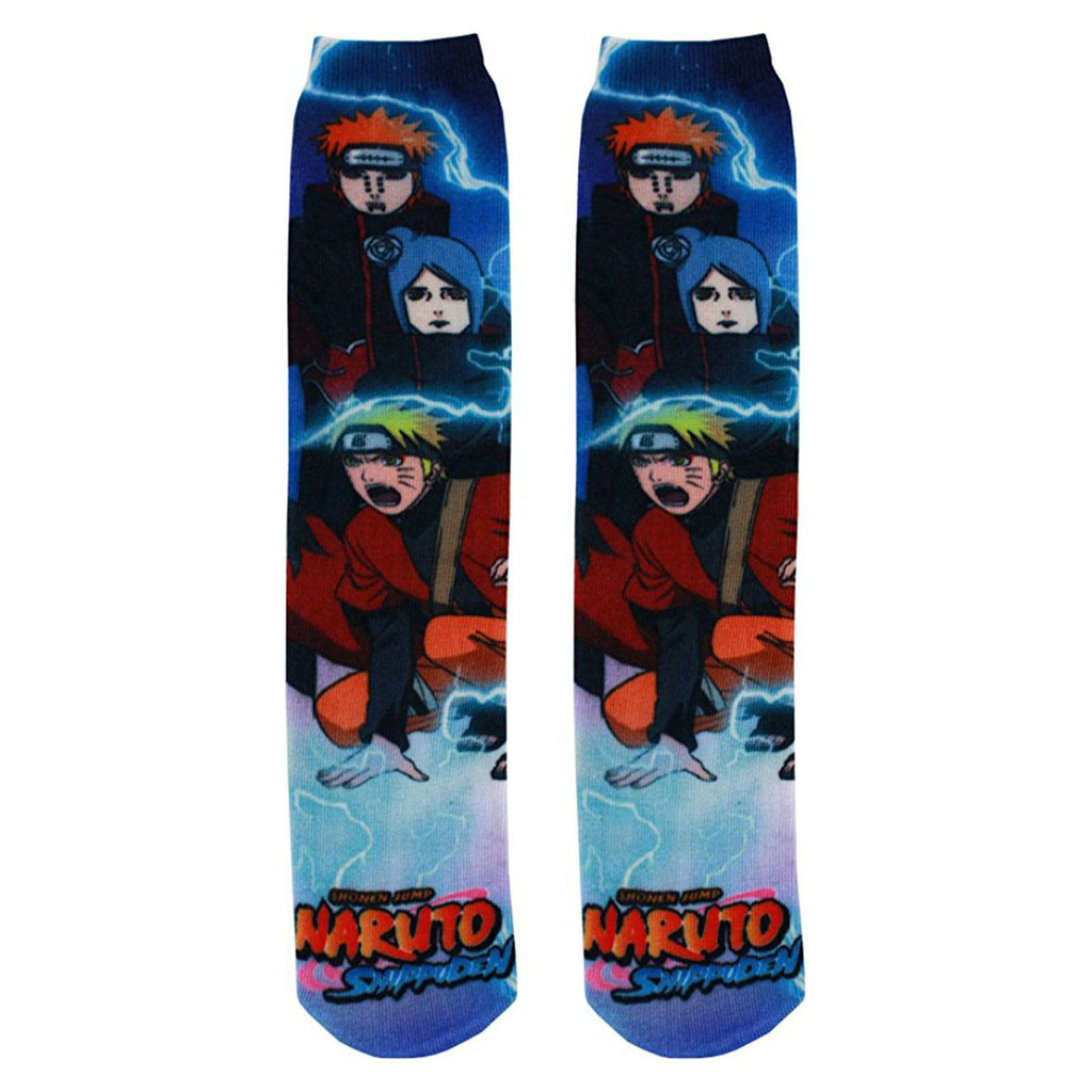 Naruto Shippuden 360 Photoreal 1 Pair Of Socks