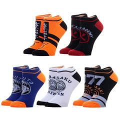 Socks - Naruto Shippuden Five Pair Youth Ankle Socks