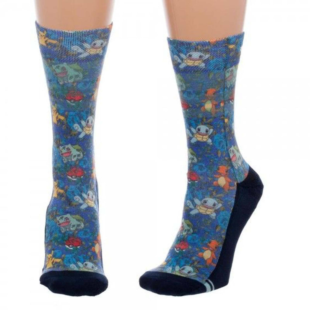 Pokemon Floral Juniors 1 Pair Of Crew Socks