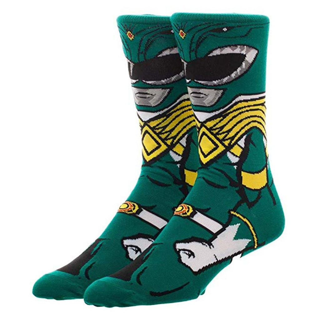 Power Rangers Character Collection Green Ranger 1 Pair Of Crew Socks