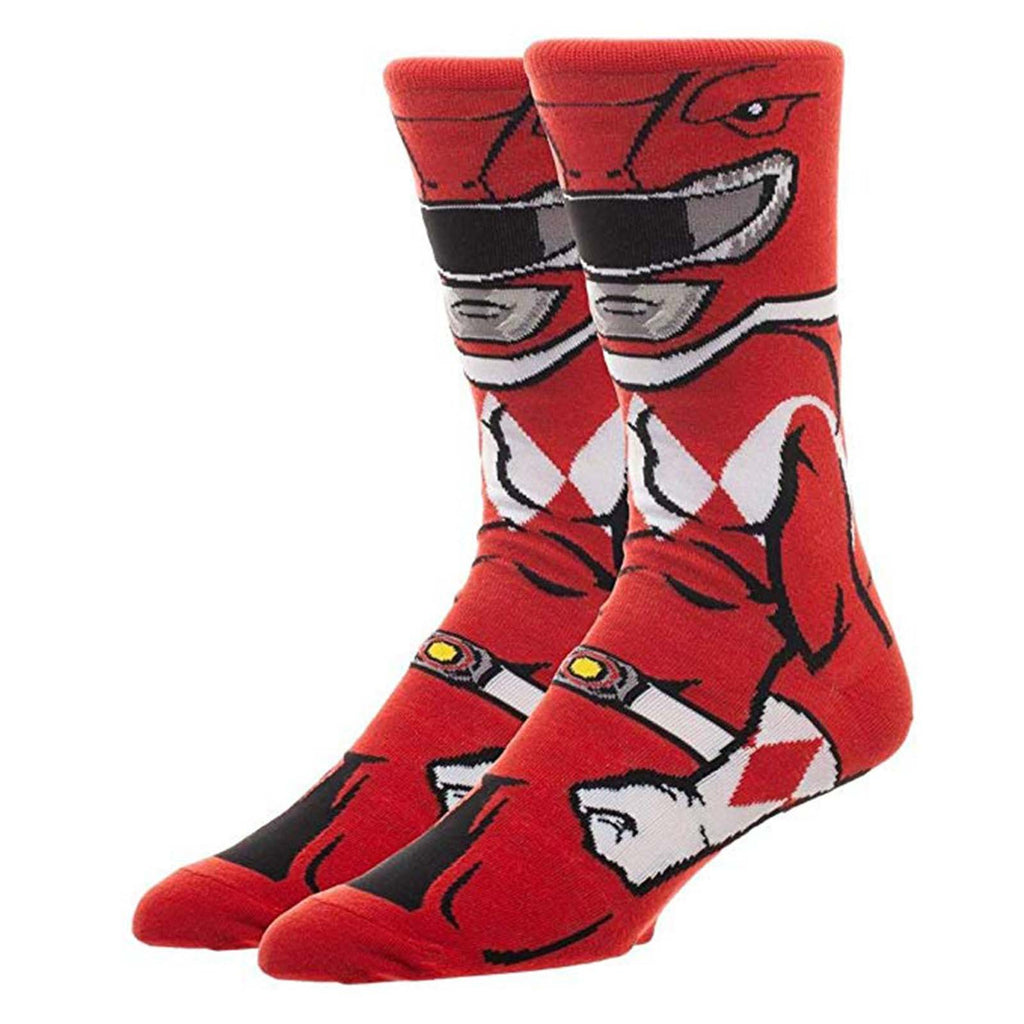 Power Rangers Character Collection Red Ranger 1 Pair Of Crew Socks