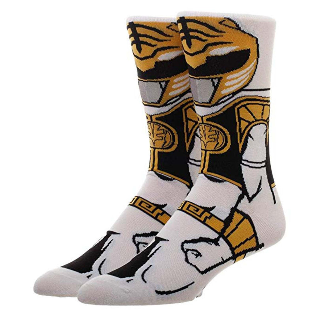 Power Rangers Character Collection White Ranger 1 Pair Of Crew Socks