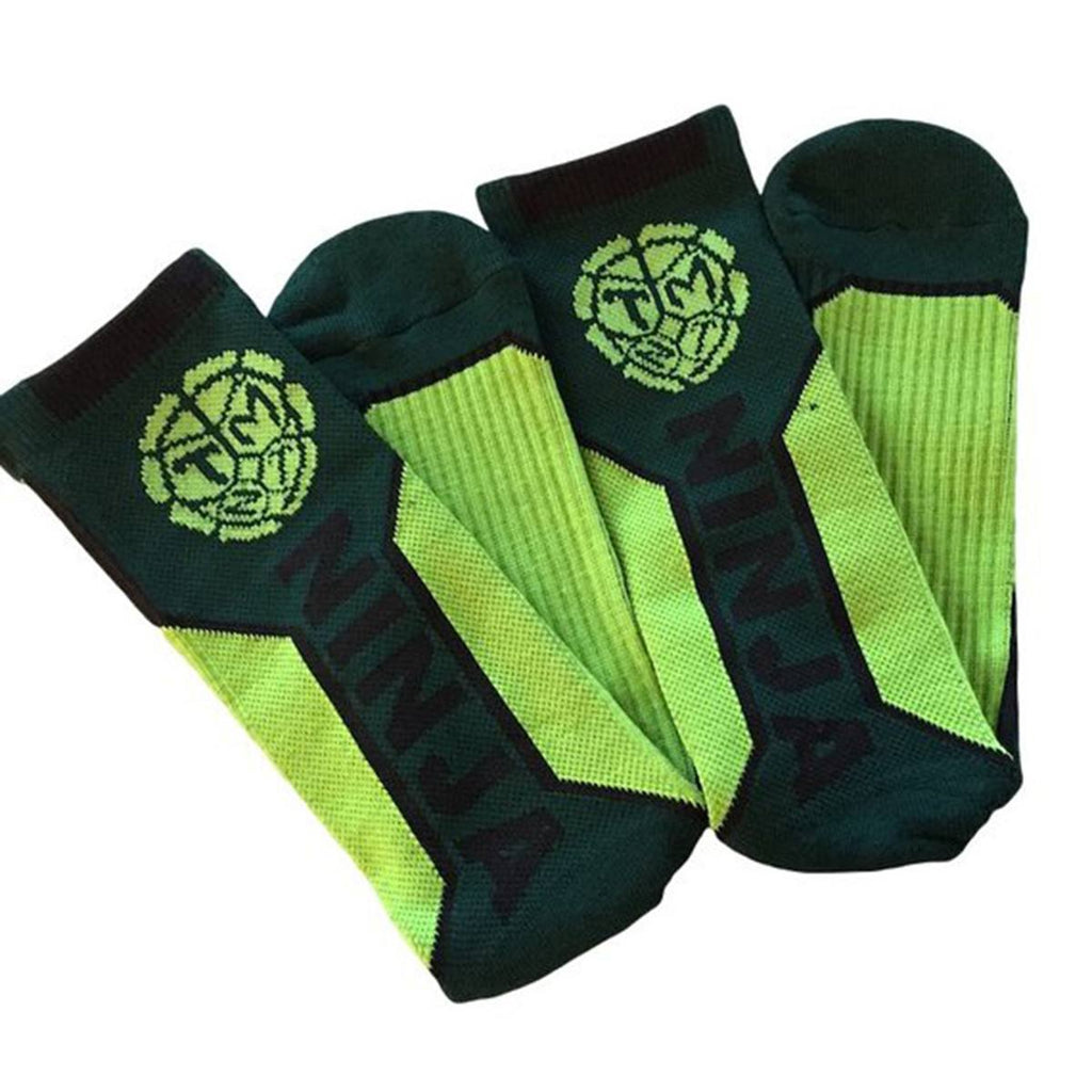 Teenage Mutant Ninja Turtles Text Active Crew Socks