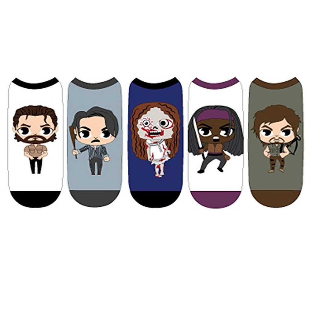 Walking Dead Chibi Characters 5 Pairs Of Socks