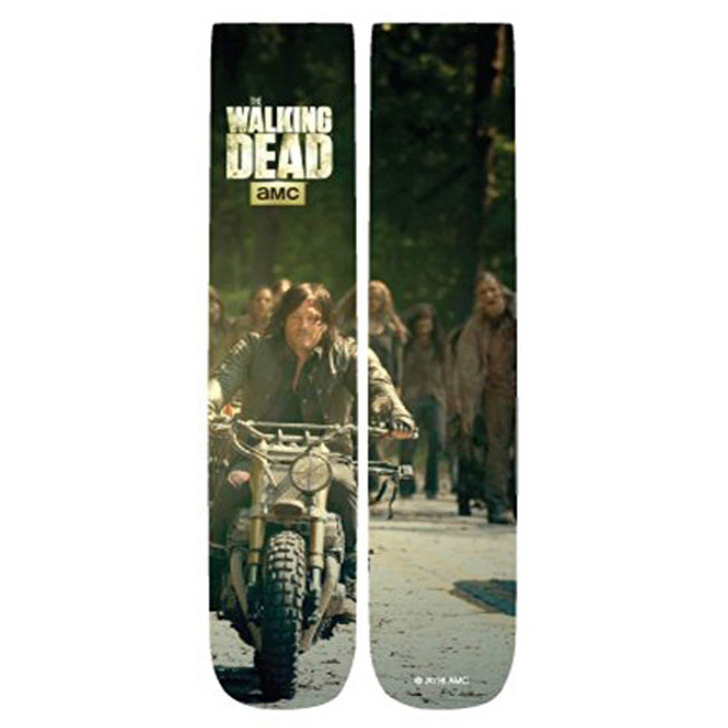 Walking Dead Daryl On Chopper 360 Photoreal 1 Pair Of Socks