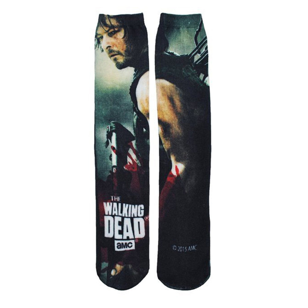 Walking Dead Daryl With Crossbow 360 Photoreal 1 Pair Of Socks