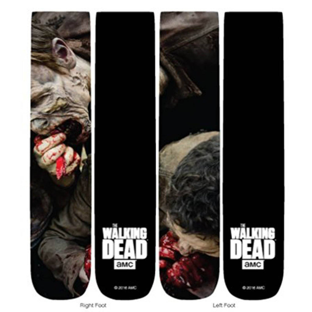 Walking Dead Eating Walkers 360 Photoreal 1 Pair Of Socks