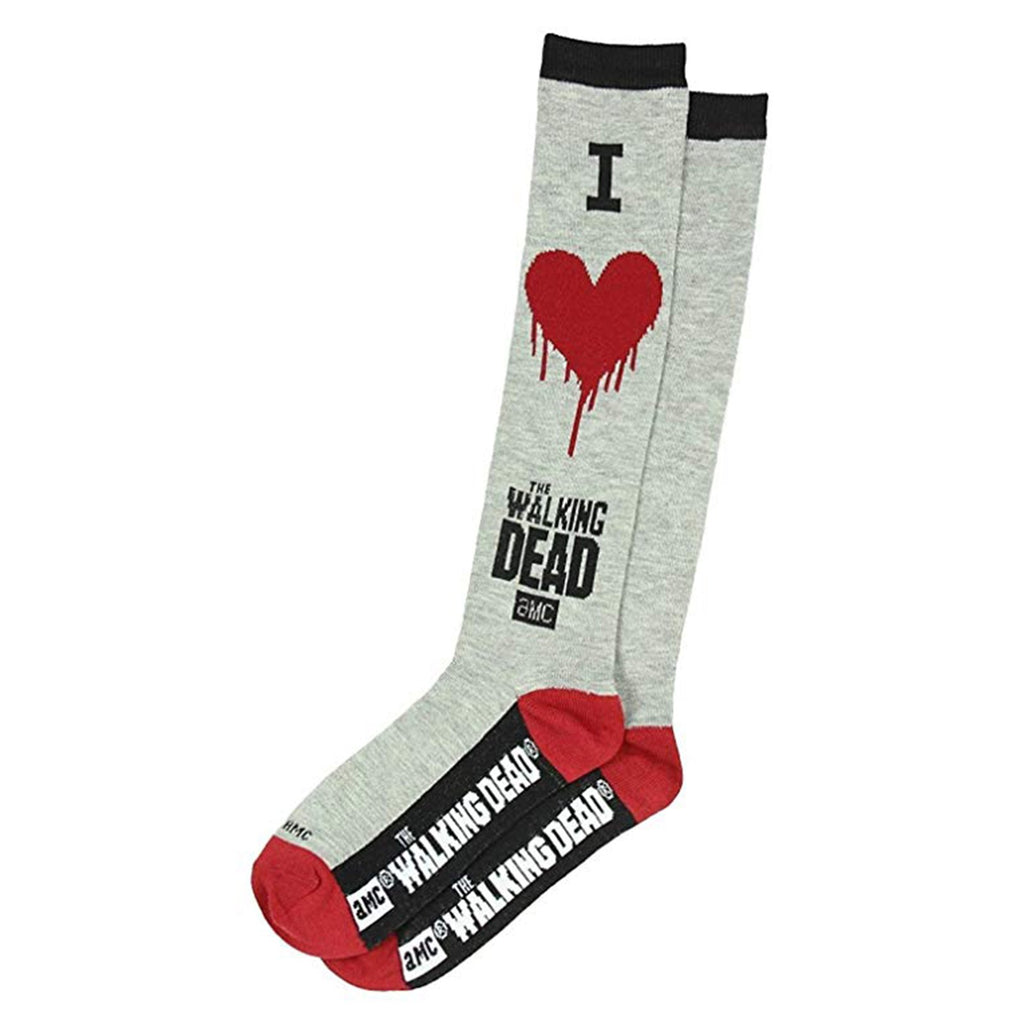 Walking Dead I Heart Walking Dead 1 Pair Of Crew Socks