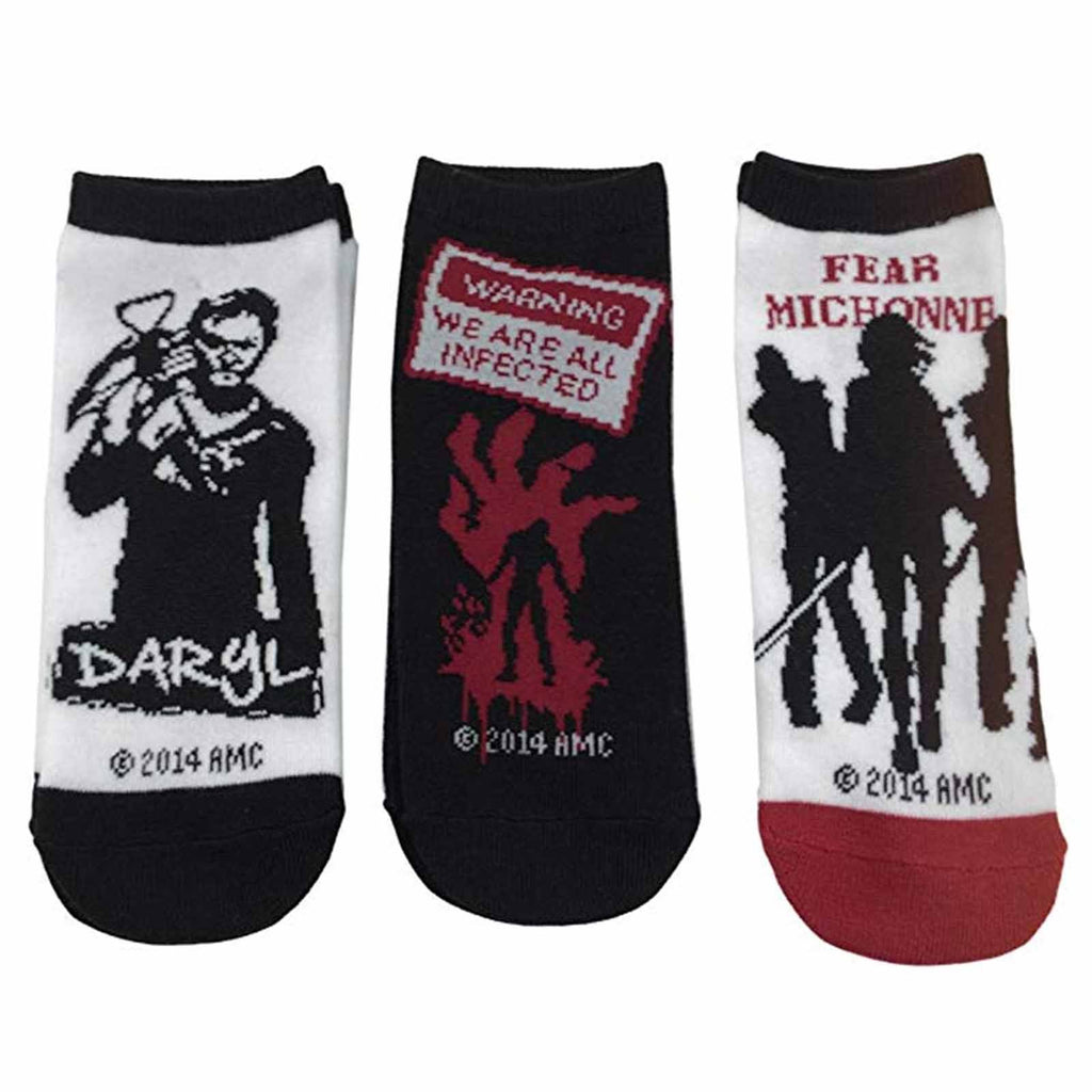 Walking Dead Ladies Daryl 3 Pairs Of Low Cut Socks