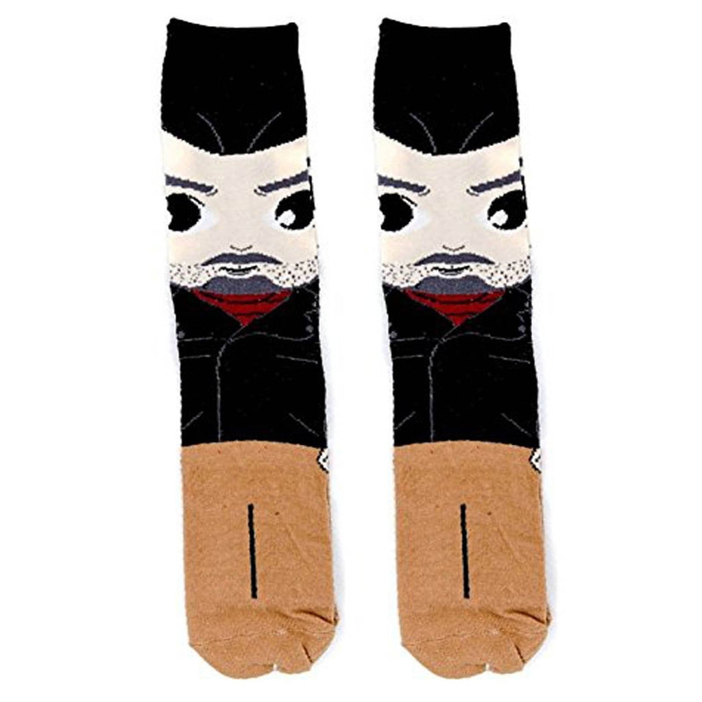 Walking Dead Negan Chibi Bean 1 Pair Of Long Crew Socks