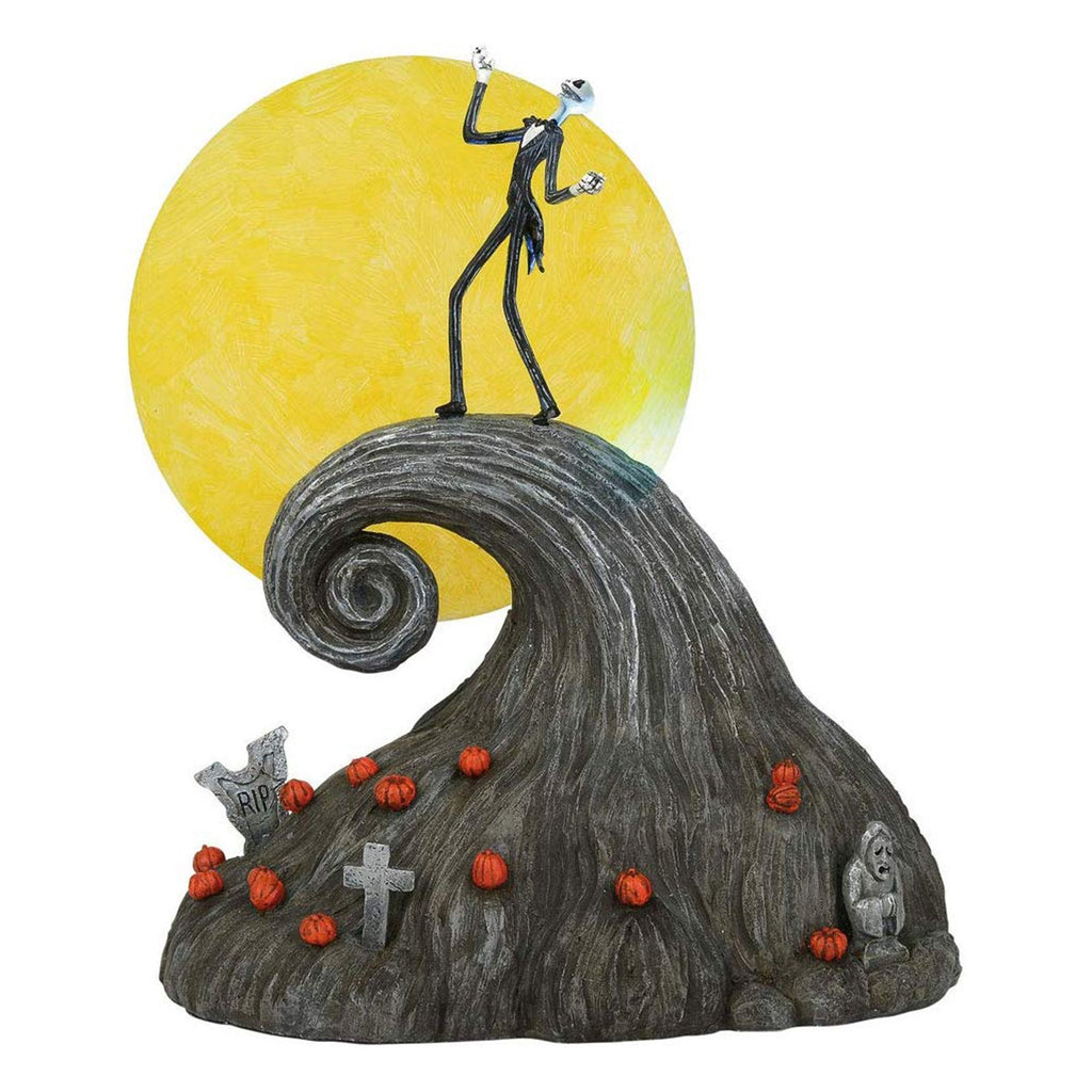 Enesco Nightmare Before Christmas Jack On Spiral Hill Set