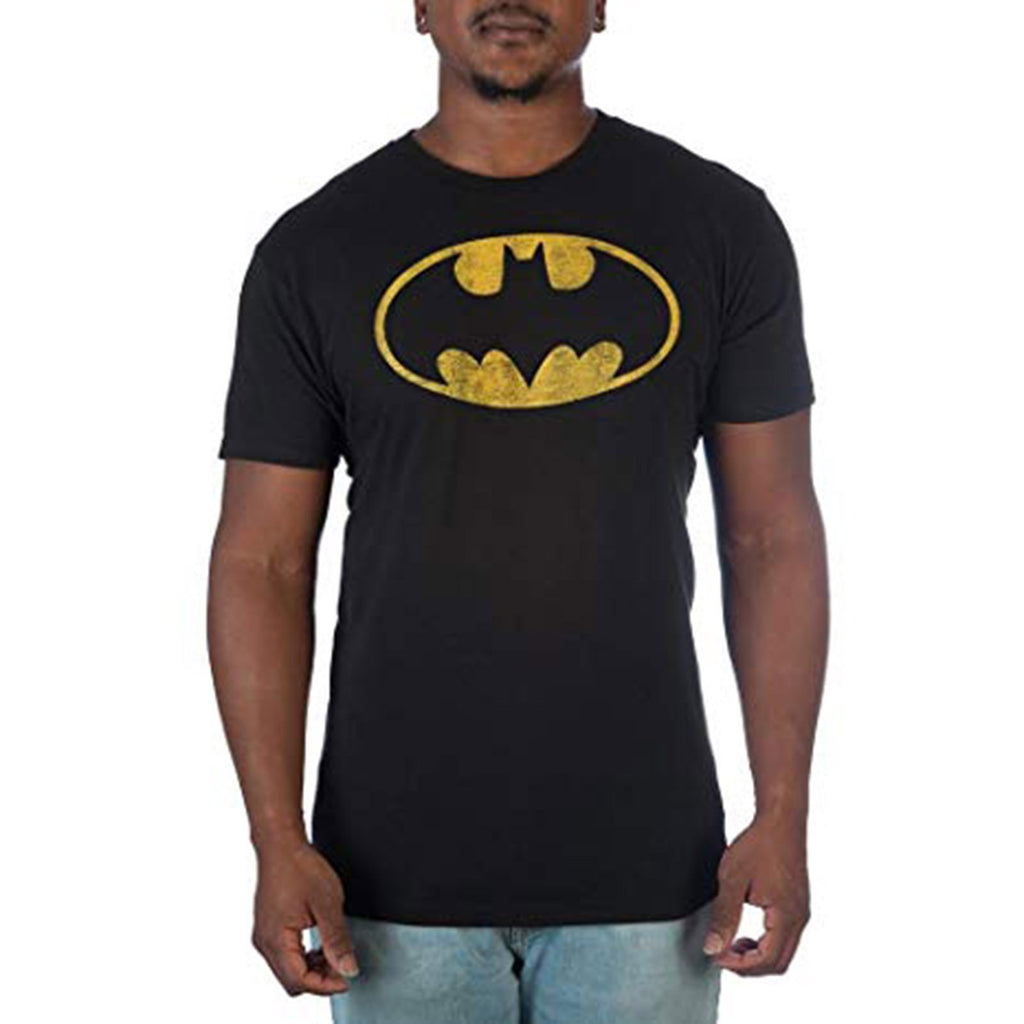 DC Batman Vintage Oval Logo Faded Men's Tee Shirt