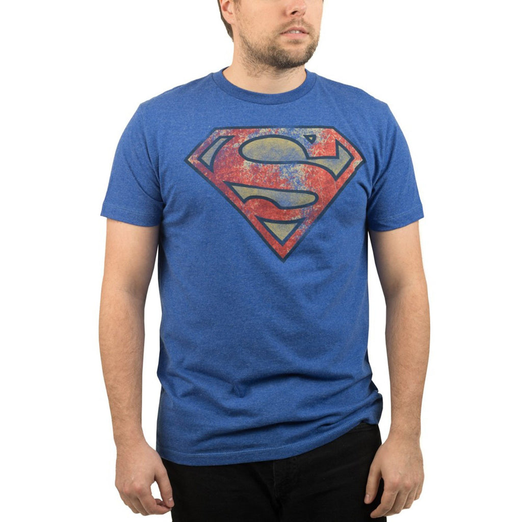 DC Superman Vintage Logo Faded Men's Tee Shirt