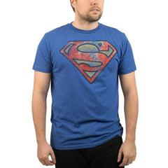 T-Shirts - DC Superman Vintage Logo Faded Men's Tee Shirt