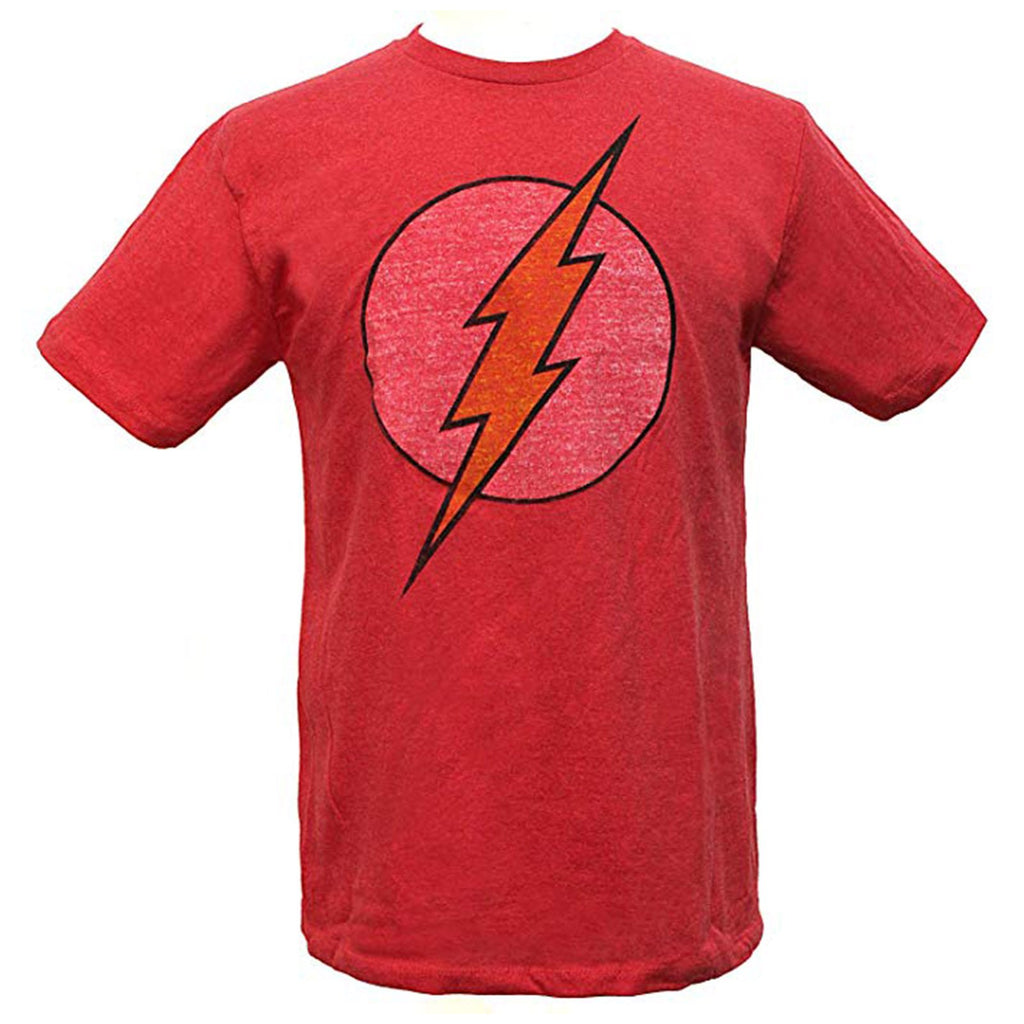 T-Shirts - DC The Flash Vintage Logo Faded Men's Tee Shirt