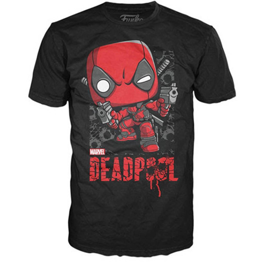 Funko Marvel POP Deadpool Shots Tee Shirt