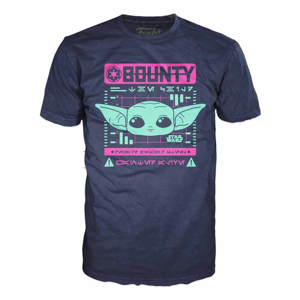 Funko Star Wars Mandalorian The Child Wanted Bounty Tee Shirt Adult