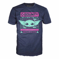 T-Shirts - Funko Star Wars Mandalorian The Child Wanted Bounty Tee Shirt Adult