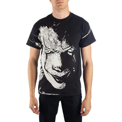 T-Shirts - IT The Movie Face Black White Tee Shirt Adult