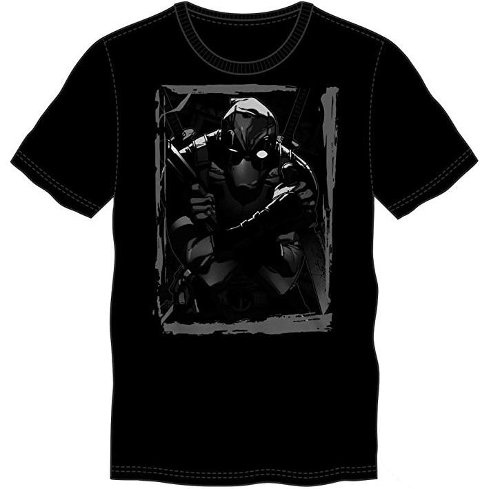 T-Shirts - Marvel Deadpool Mad Money Black Distress Tee Shirt