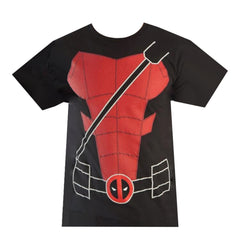 T-Shirts - Marvel Deadpool Suit Up Black Red Tee Shirt