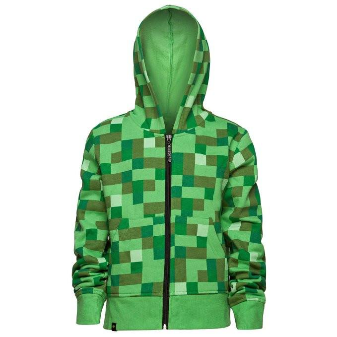 Minecraft Creeper Premium Youth Zip Up Hoodie