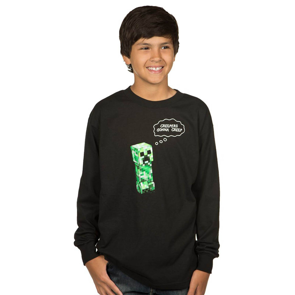 Minecraft Creepers Gonna Creep Long Sleeve Tee Shirt