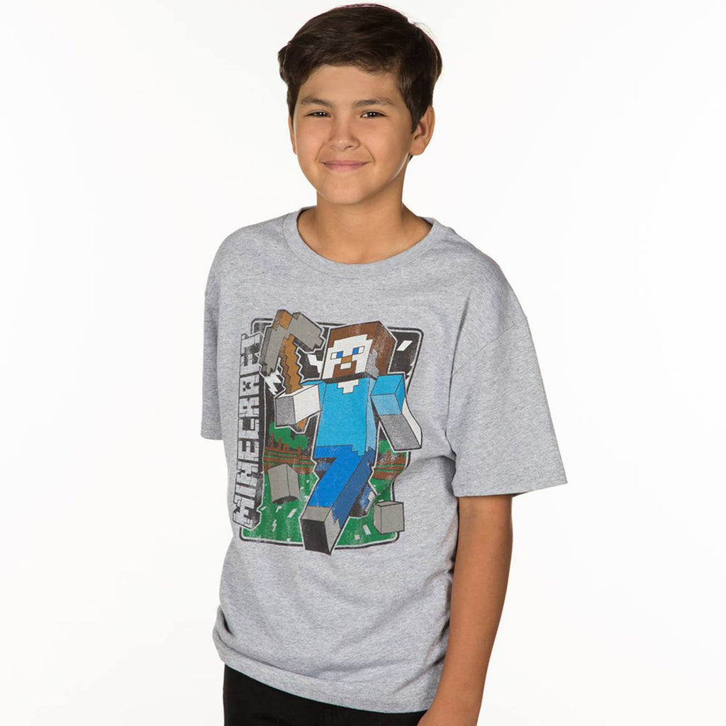 Minecraft Vintage Steve Youth Tee Shirt
