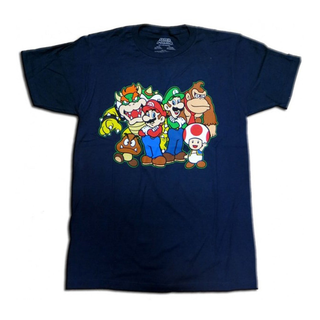 Nintendo Super Mario Group Navy Men's T-Shirt
