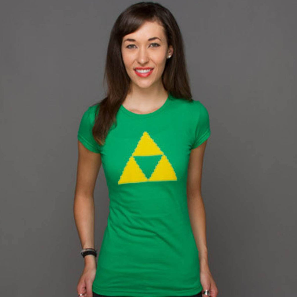 Zelda Power Wisdom Courage Symbol Women's Premium Tee Shirt - Radar Toys
