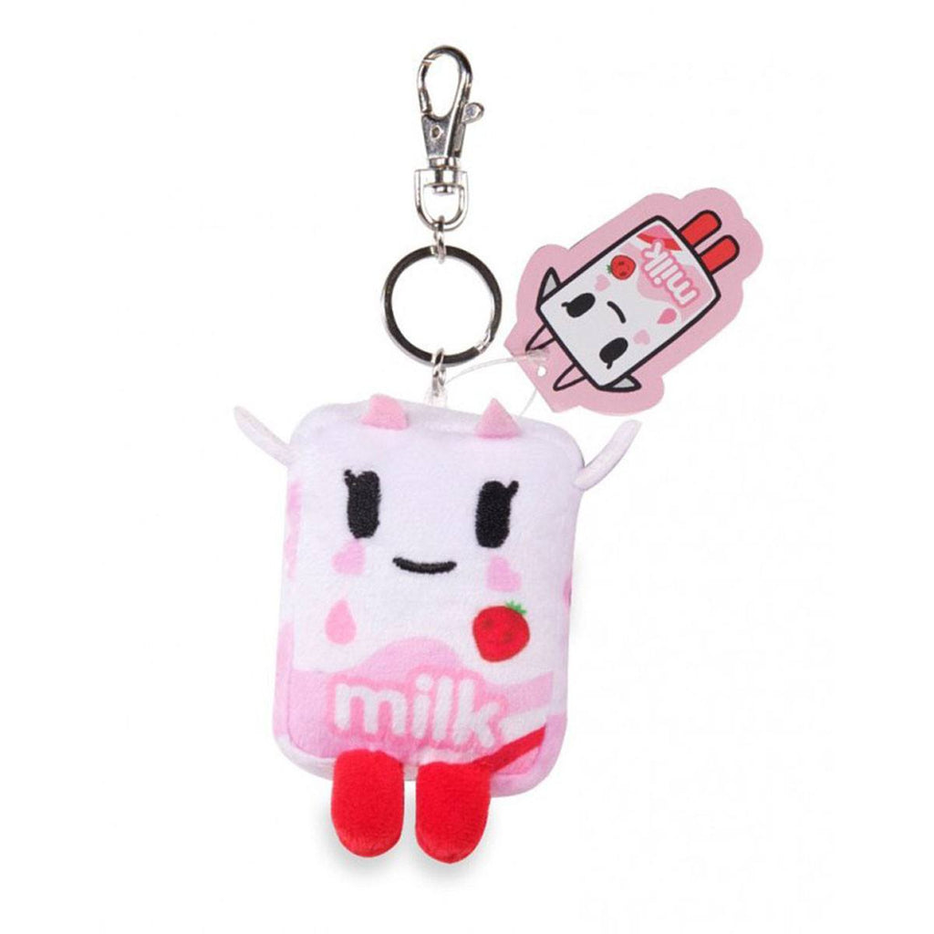 Tokidoki Strawberry Milk Moofia Plush Keychain - Radar Toys
