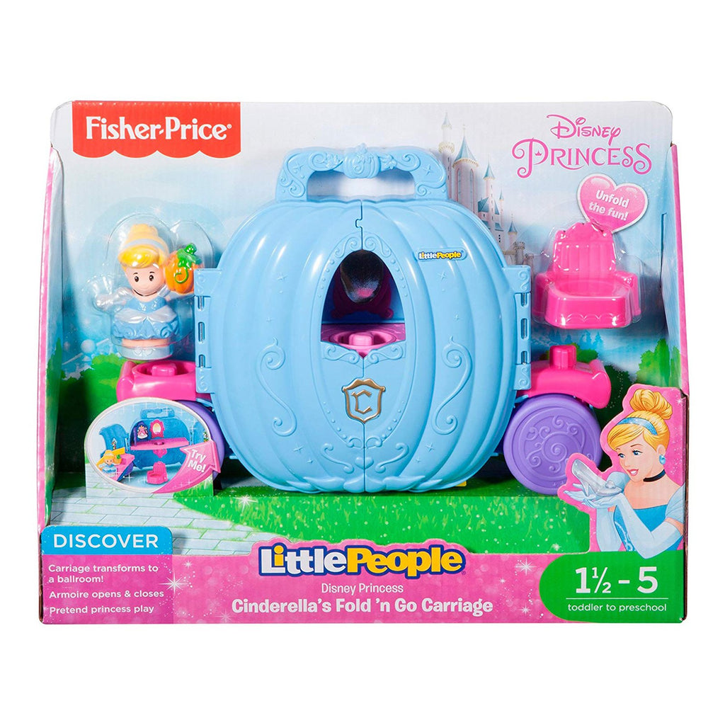 Fisher Price Little People Disney Cinderella's Fold'n Go Carriage Set